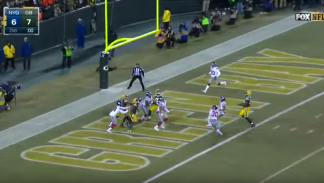 Cobb Hail Mary from Aaron Rodgers